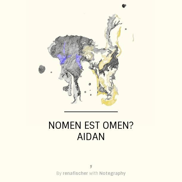 Nomen est Omen: Aidan