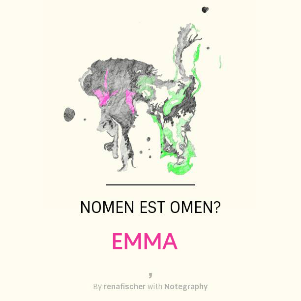Nomen est Omen: Emma