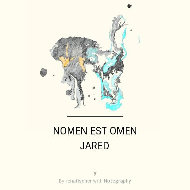 Nomen est Omen: Jared
