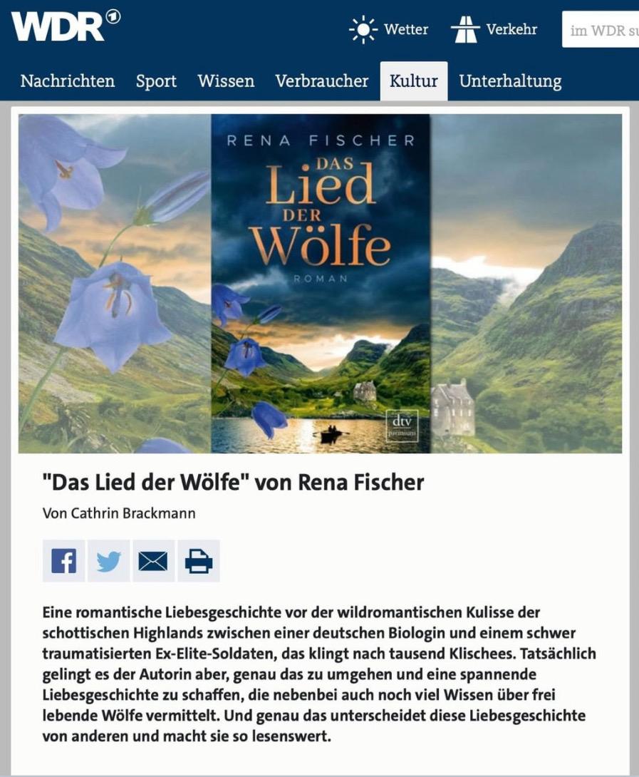 """""""Das Lied der Wölfe"""" ist Buchtipp bei WDR Kultur"""